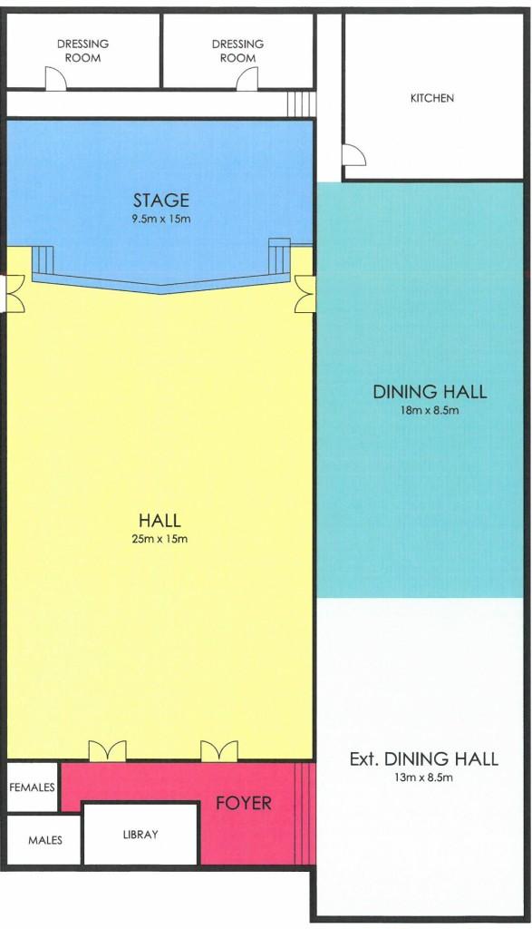 Ramakrishna Hall layout